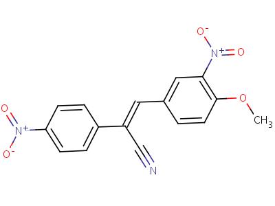 a-[(4-甲氧基-3-硝基苯基)亚甲基]-4-硝基苯乙腈结构式,1241-09-4结构