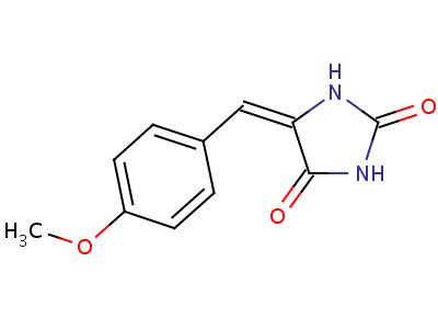 5-[(4-甲氧基苯基)亚甲基]-2,4-咪唑啉二酮结构式,5349-42-8结构式