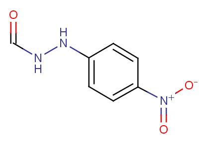 2-(p-硝基苯基)肼 甲酸结构式,6632-39-9结构式