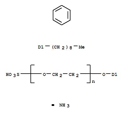 壬基酚聚氧乙烯(4)醚硫酸铵结构式_9051-57-4结构式