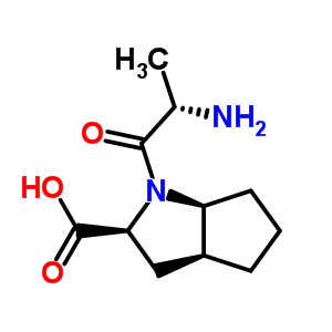 1-(2-氨基-1-氧代丙基)八氢环戊烯并[b]吡咯-2-羧酸结构式_104160-97