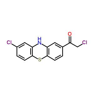 2-氯-1-(8-氯-10h-吩噻嗪-2-基)-乙酮结构式_10554-02-6结构式