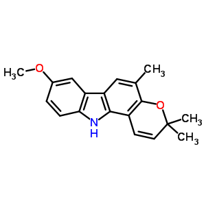 o-甲基柯氏九里香酚碱结构式_21087-98-9结构式