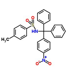 4-甲基-n-[(4-硝基苯基)二苯基甲基]-苯磺酰胺结构式,22566-47-8结构
