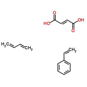 (2e)-2-丁烯二酸与1,3-丁二烯和乙烯基苯的聚合物结构式_24938-12-3