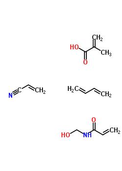 3-丁二烯,n-(羟基甲基)-2-丙烯酰胺和2-丙烯腈的聚合物结构式_30555-4