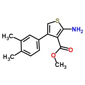 34 备注: 结构式: 其他产品: 2-氨基-4-(4-氟-苯基)-5-甲基-噻吩-3-羧