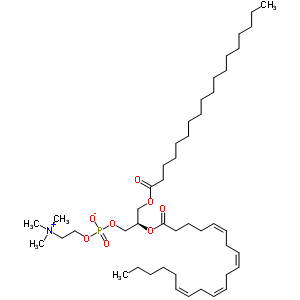 l-α-磷脂酰胆碱-β-花生四烯酰-γ-硬脂酰结构式_35418-59-8结构式图片
