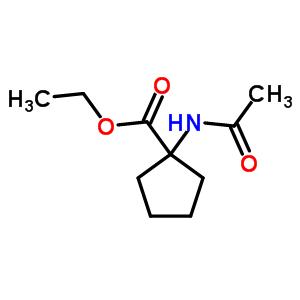 1-(乙酰基氨基)-环戊烷羧酸乙酯结构式_4896-13-3结构式