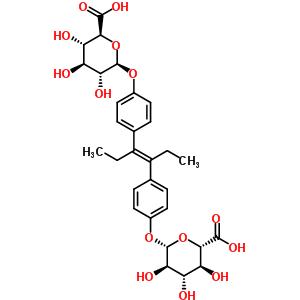 二乙基己烯雌酚二葡糖苷酸结构式_53915-13-2结构式