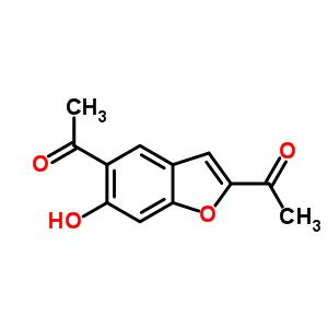 2,5-二乙酰基-6-羟基苯并呋喃结构式_53947-86-7结构式