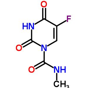 1-甲基氨基甲酰-5-氟尿嘧啶结构式_56563-18-9结构式