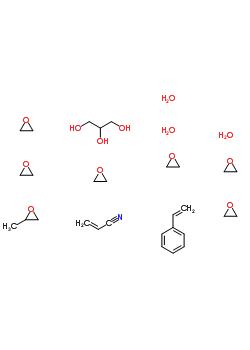 甘油聚氧丙烯聚氧乙烯醚, 苯乙烯, 丙烯腈聚合物结构式_57913-80-1