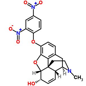 4-二硝基苯氧基)-4,5α-环氧基-17-甲基吗啡烷-6α-醇结构式_58534-70