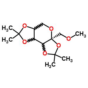 2,3-4,5-二-o-异亚丙基-1-o-甲基-beta-吡喃果糖结构式_60885-04-3