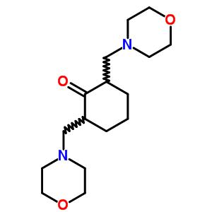 2, 6-双(4-吗啉甲基)环己酮双盐酸盐结构式_6333-29-5结构式