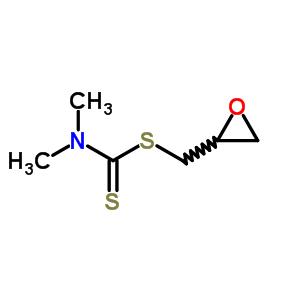 二甲基二硫代氨基甲酸缩水甘油酯结构式_63884-47-9结构式