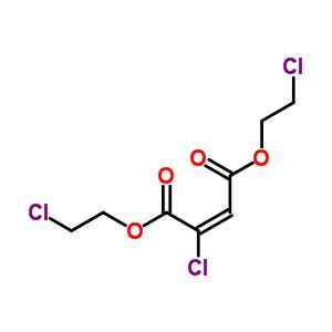 2-氯马来酸 二(2-氯乙基)酯结构式_63917-05-5结构式
