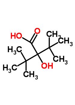 2-(1,1-二甲基乙基)-2-羟基-3,3-二甲基-丁酸结构式_64264-39-7结构式