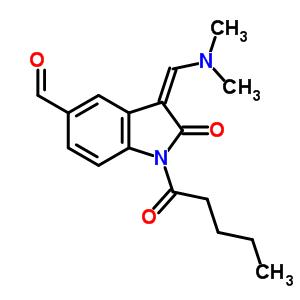 3-((二甲基氨基)亚甲基)-2-氧代-1-戊酰基-5-吲哚啉甲醛结构式_68641
