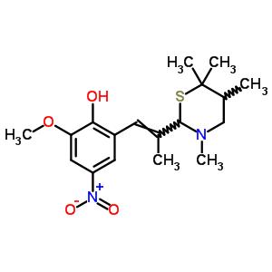 5,6,6-四甲基-2h-1,3-噻嗪-2-基)-1-丙烯-1-基]-苯酚结构式_69972-00