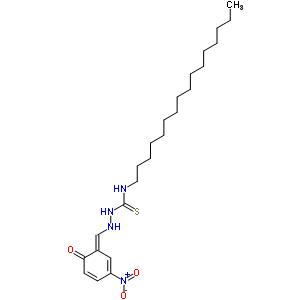 n-十六基-2-[(2-羟基-5-硝基苯基)亚甲基]-肼硫代甲酰胺结构式_7399