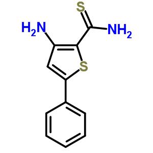 3-氨基-5-苯基-2-噻吩硫代甲酰胺结构式_83060-70-2结构式