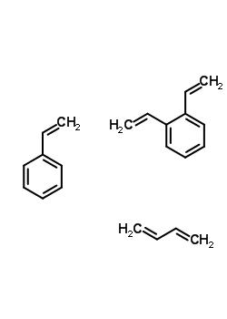 1,3-丁二烯与二乙烯基苯和苯乙烯的聚合物结构式_9052-84-0结构式