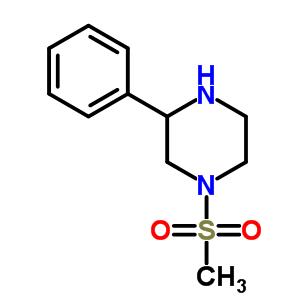 1-甲烷磺酰基-3-苯基哌嗪结构式_912763-31-6结构式