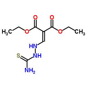 2-[(2-氨基甲酰基硫代肼基)亚甲基]丙二酸二乙酯结构式_93505-49-8